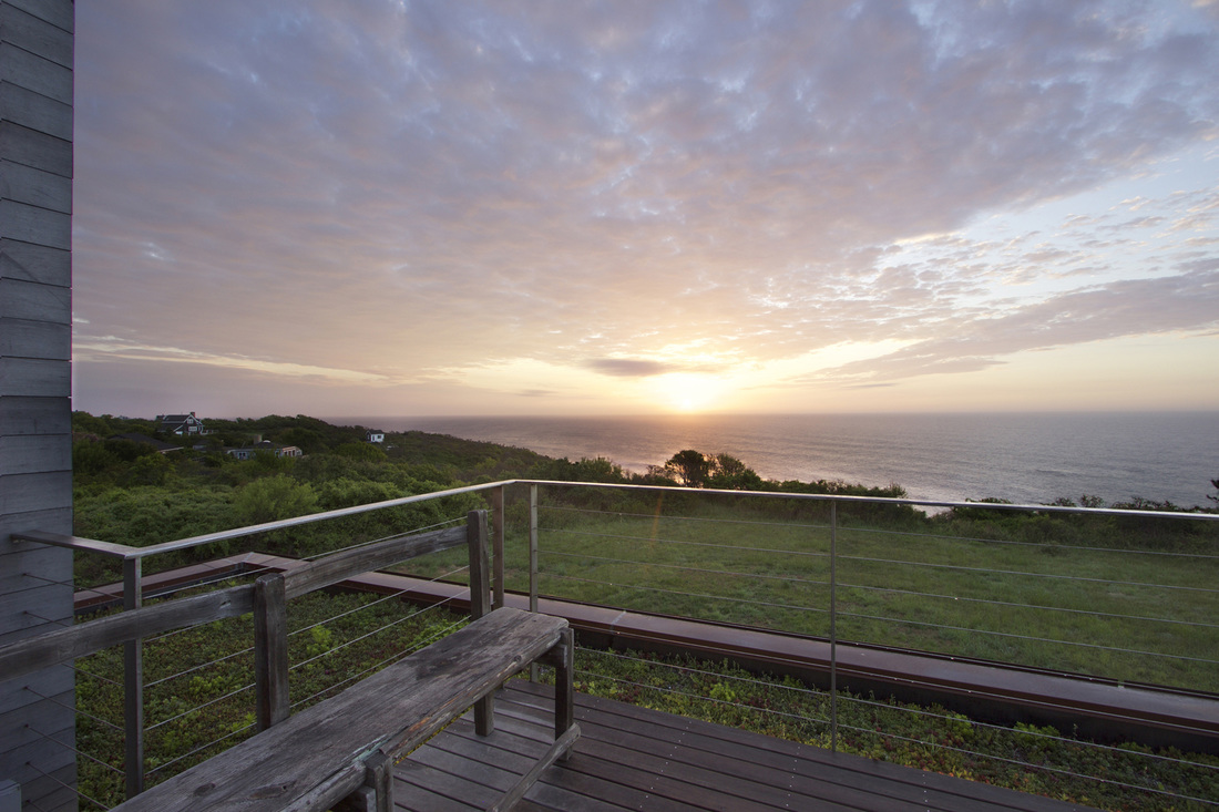 QUARTER design studio + EngineHouse | Seaside Residence | Block Island, RI – roof deck at sunrise