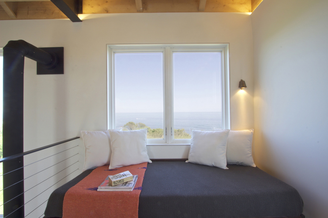 QUARTER design studio + EngineHouse | Seaside Residence | Block Island, RI – ocean view from reading loft